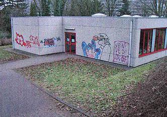 AGP 1414 graffiti verwijdering zonder schade aan de ondergrond.